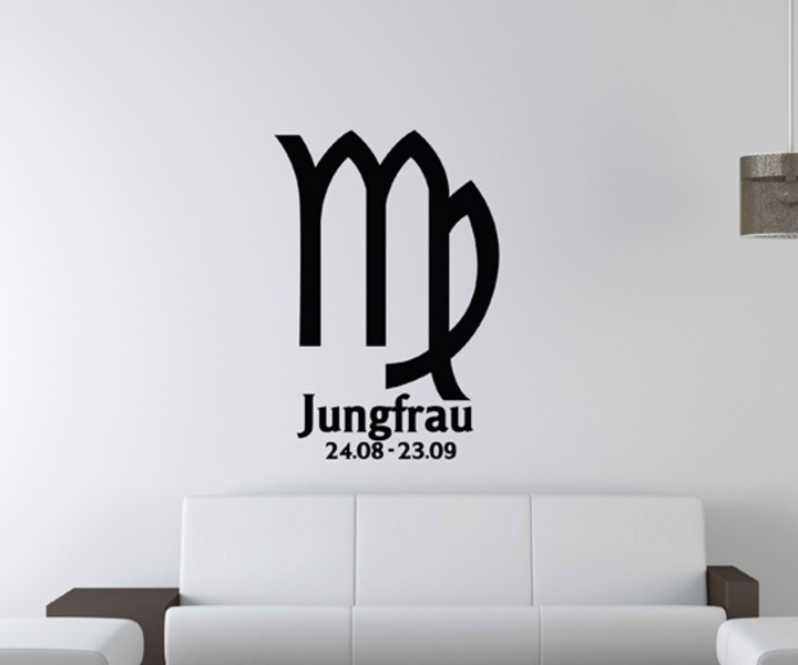 wandtattoo sternzeichen jungfrau text sticker tattoo. Black Bedroom Furniture Sets. Home Design Ideas