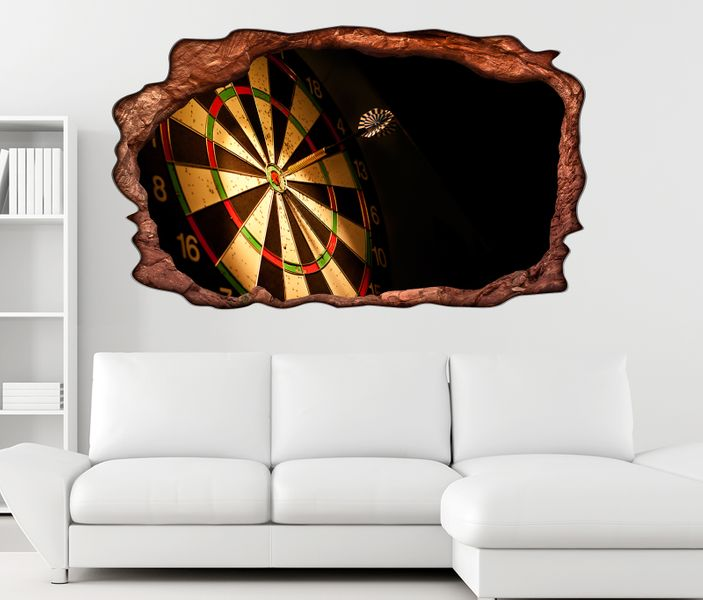 3d wandtattoo sport dart pfeil dartscheibe bild selbstklebend wandbild sticker wohnzimmer wand. Black Bedroom Furniture Sets. Home Design Ideas