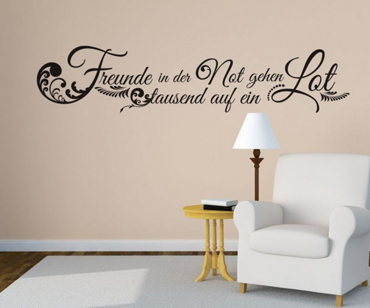 wandtattoo spruch freunde not deko spr che tattoo aufkleber zitate zitat 5d137 wandtattoos. Black Bedroom Furniture Sets. Home Design Ideas