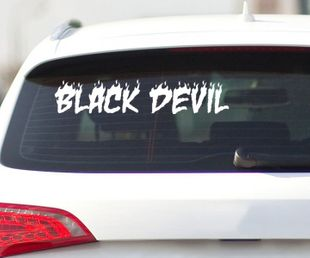 Black Devil Autoaufkleber, Shocker Aufkleber DUB OEM JDM Auto Bike Sticker 2H032 001