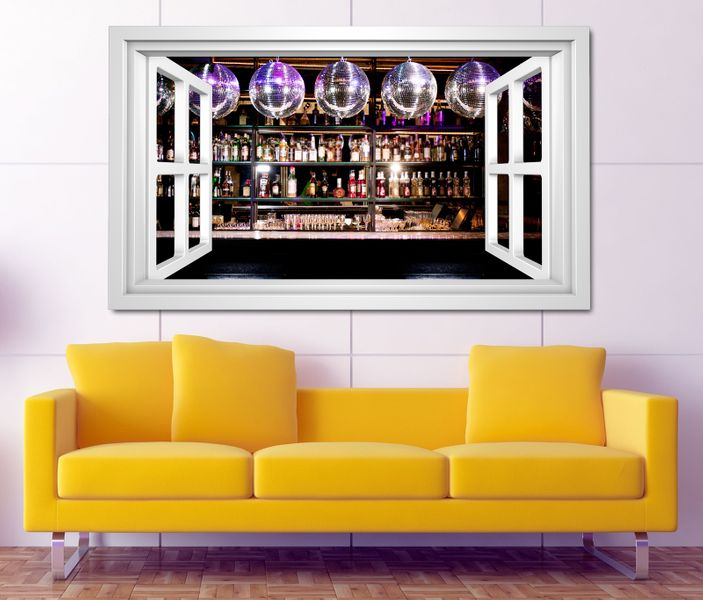 3d wandtattoo bar alkohol disko nachtleben party selbstklebend wandbild tattoo wohnzimmer wand. Black Bedroom Furniture Sets. Home Design Ideas