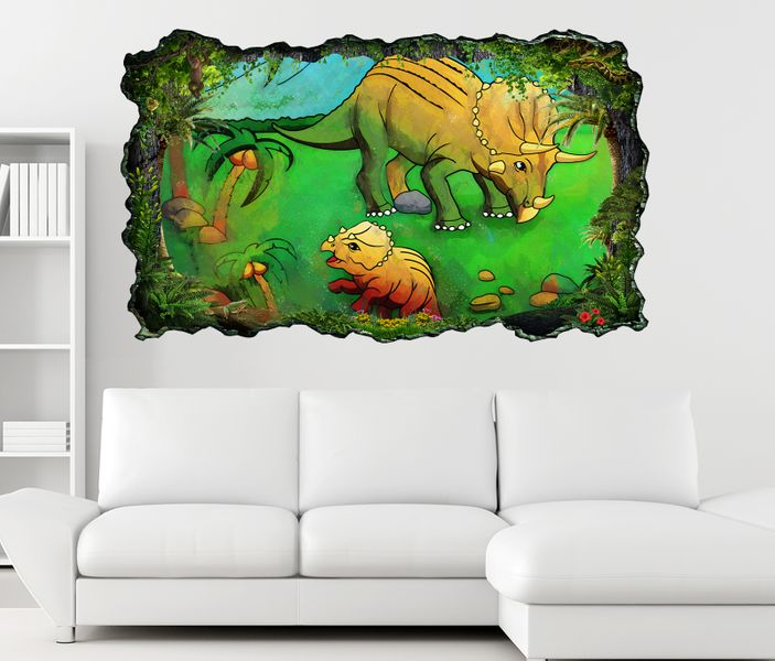 3d wandtattoo dino dinos kinderzimmer dinosaurier. Black Bedroom Furniture Sets. Home Design Ideas