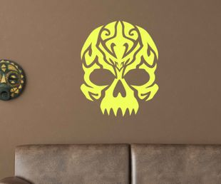 Wandtattoo Tribal Skull Schädel Horror Tattoo Wand Deko Sticker Aufkleber 1U025