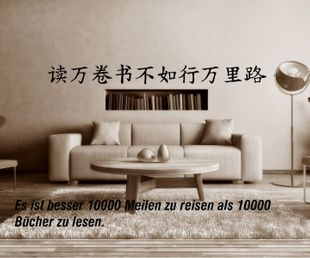 Wandtattoo China Tattoo  Weisheit Spruch Hierogliphen Aufkleber Sticker 1F032