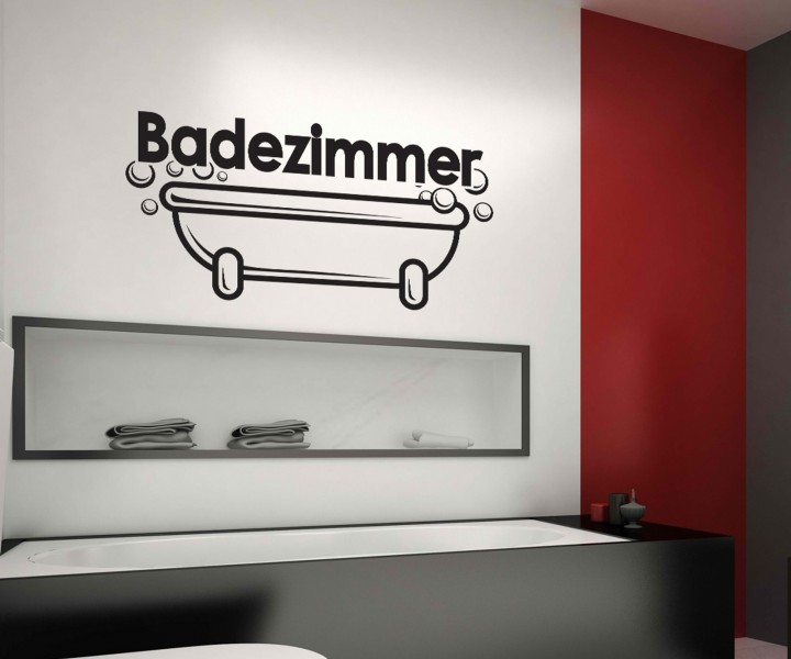 badezimmer aufkleber. Black Bedroom Furniture Sets. Home Design Ideas