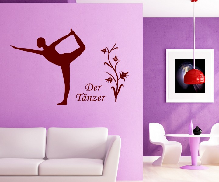 wandtattoo der t nzer deko yoga bung sport sticker tattoo. Black Bedroom Furniture Sets. Home Design Ideas