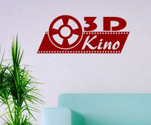 3D Kino Home Cinema Lounge Wandtattoo Retro Kamera Wand Film Aufkleber 5S002