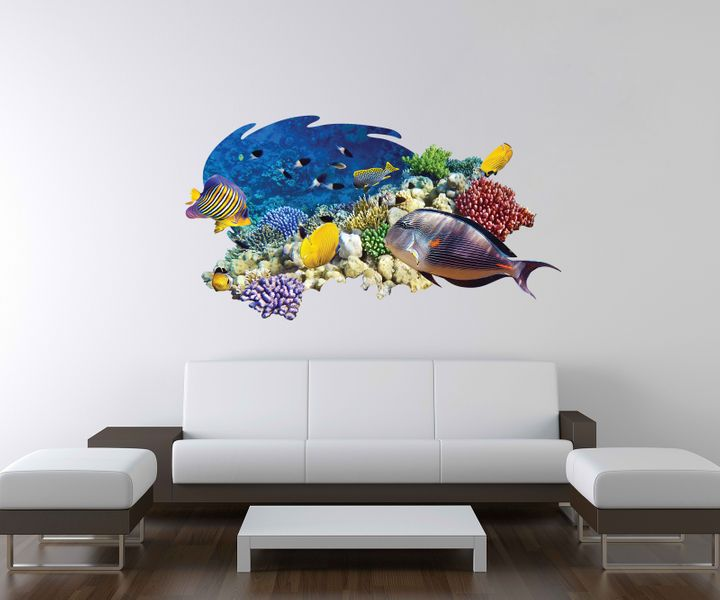 3d wandtattoo fisch unterwasserwelt korallen meer wand. Black Bedroom Furniture Sets. Home Design Ideas
