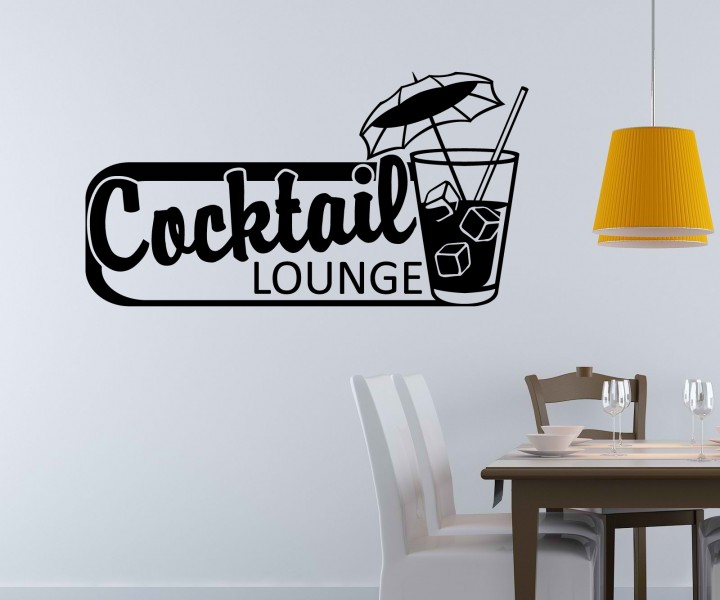 wandtattoo cocktail glas bar k che wand sticker aufkleber wandbild m belaufkleber auto. Black Bedroom Furniture Sets. Home Design Ideas