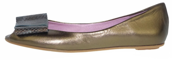 Bisue 2026 Ballerinas Leder bronze
