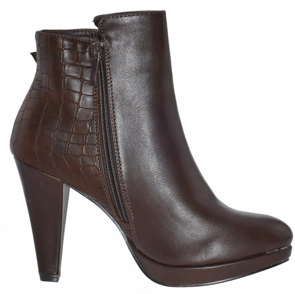 R and Be DH307 Plateaustiefeletten coffee High Heel – Bild 3