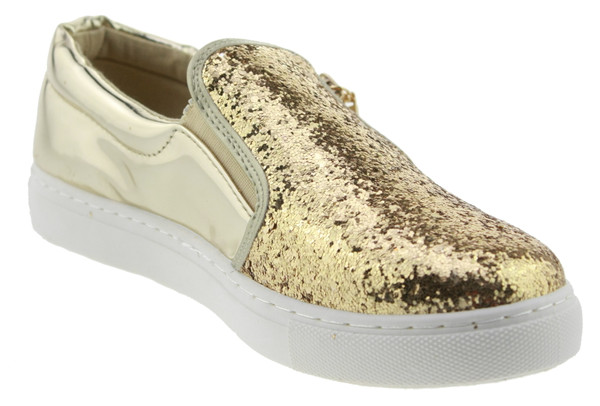 Catisa RW710  Slip-On Glitzer gold – Bild 2