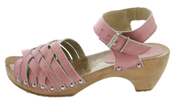 Aces of London QS 120042 Plateau Sandaletten Leder anil soft pink – Bild 1
