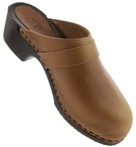 US Polo Assn Blog Clogs Leder braun – Bild 2