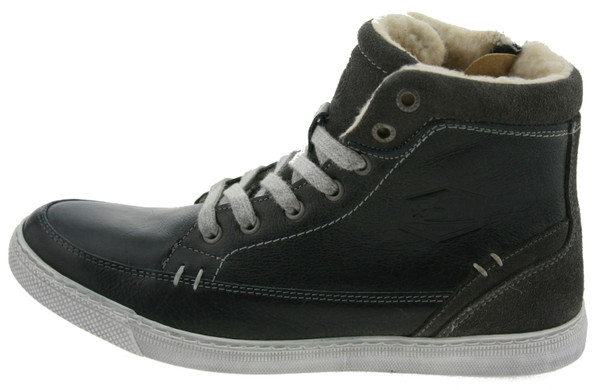 Bullboxer AGM509E6L High Top Sneakers gefüttert Leder grau – Bild 1