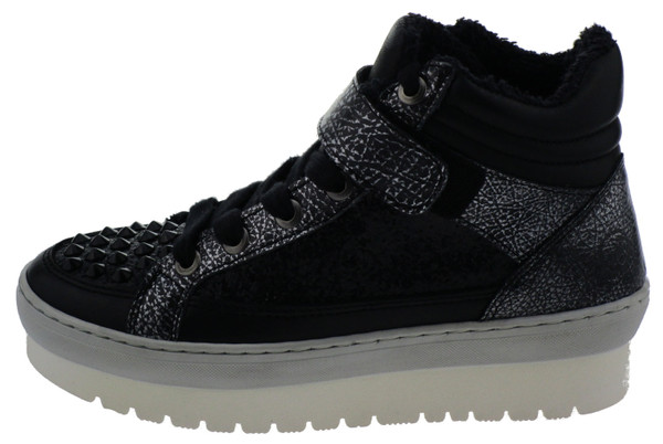Bronx BX585 High-Top Sneaker Leder black – Bild 1