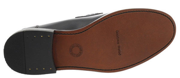 British Passport 690703961 Mokassin Slipper Plain Leder braun – Bild 3