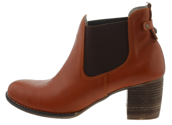 Zapato Ankle Boot Leder rot