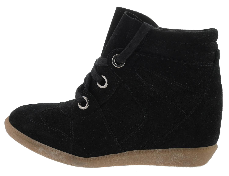 e5428012d8ac4f Bronx Wedges Braff Keilabsatz High-Top Sneaker Leder schwarz ...