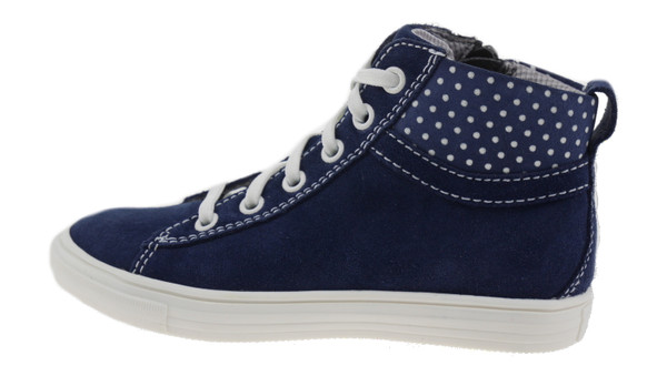 Richter 3142156 High-Top Sneaker Leder blau weiss – Bild 1