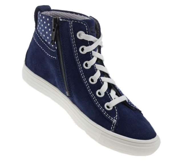 Richter 3142156 High-Top Sneaker Leder blau weiss – Bild 2