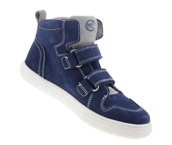 Richter 6248156 High-Top Sneaker Leder blau grau  – Bild 2