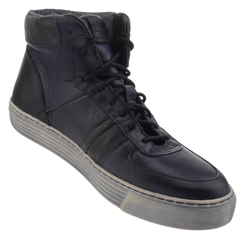 quality design fdbf2 e40d7 Camel Active Bowl Leder High-Top Sneaker dunkelblau schwarz