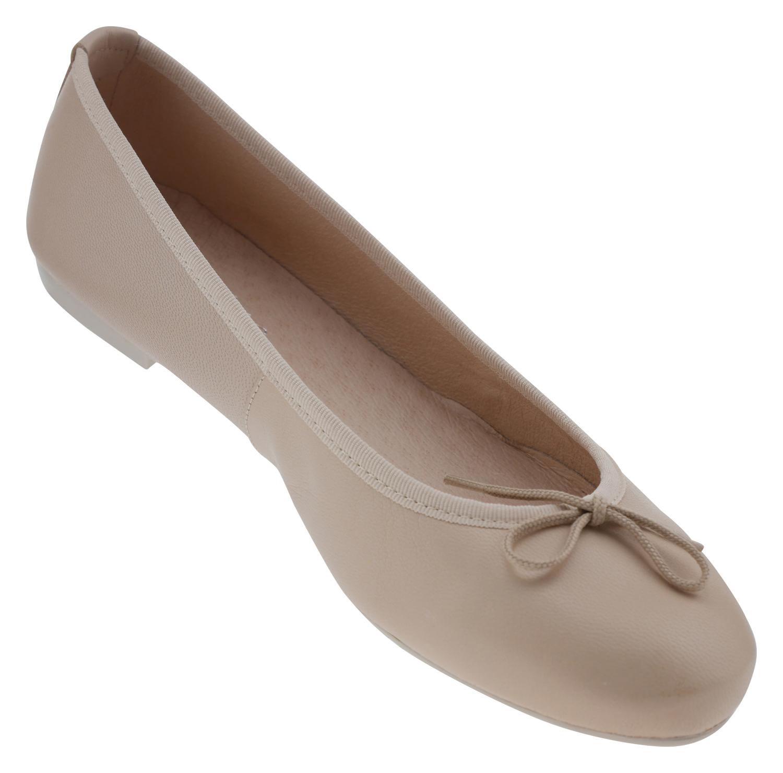 low priced 63ff4 e3cdd Abril Flowers 8000 Leder Ballerina beige