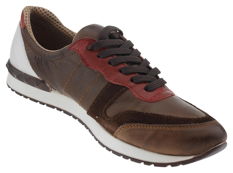 official photos 6c930 700ef Andrea Conti 340511 Leder Sneaker braun rot
