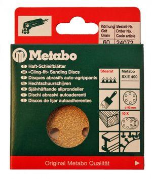 Metabo 24072 10x Haft - Schleifblätter 80mm P60