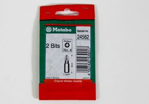 Metabo 24562  2 Bits  Phillips No.4  5/16