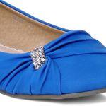 CASPAR Womens Shoes / Ballet Flats / Ballerinas with Small Rhinestone Buckle - many colours - SBA003