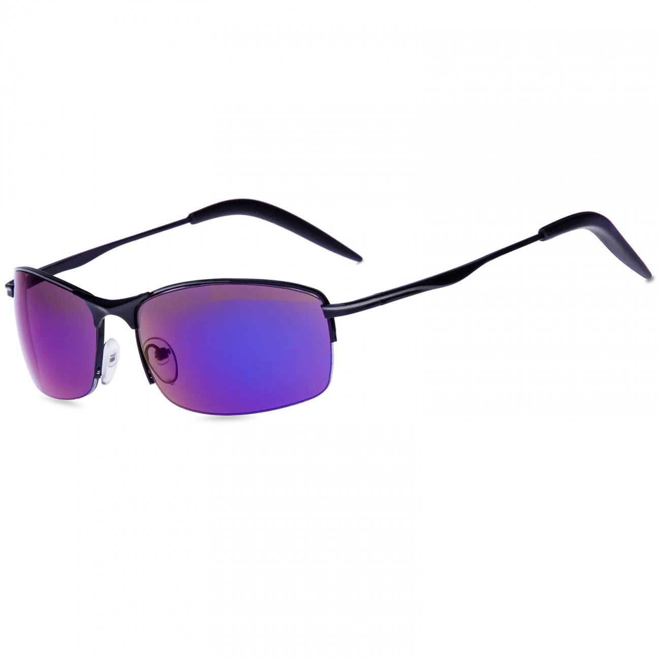 CASPAR SG010 Unisex Matrix Sport Sonnenbrille, Farbe:schwarz / lila verspiegelt