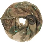 CASPAR Womens Loop Scarf / Snood / Cowl with Paisley / Dotted Circle Pattern - many colours - SC317