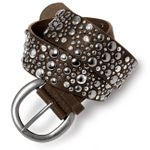 CASPAR Womens Wide Belt / Waist Band with Studs and Rhinestones - many colours - GU248