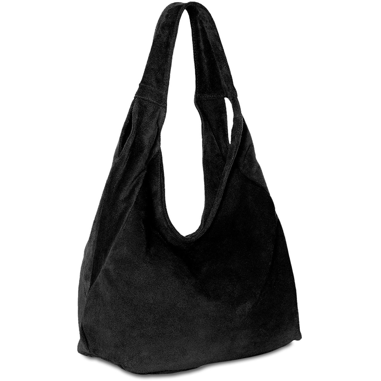 caspar tl618 damen ledertasche shopper beuteltasche hobo bag aus echt leder wildleder taschen. Black Bedroom Furniture Sets. Home Design Ideas
