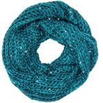 CASPAR SC330 Womens Sequined Knitted Loop Scarf