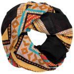 CASPAR Womens Loop Scarf Ethnic Motif Checkered Zig Zag Stripe Print - SC326