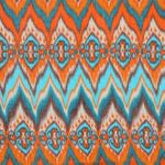 CASPAR Womens Scarf with Colourful Exotic Zig Zag Watecolour Design - SC324