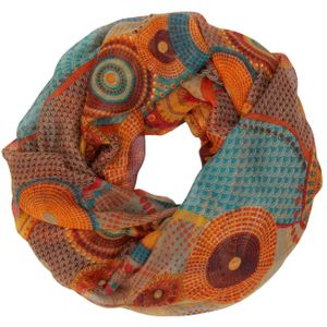 CASPAR Womens Loop Scarf / Snood / Cowl with Classic Colourful Paisley Pattern - many colours - SC334
