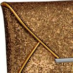 CASPAR Womens Envelope Clutch / Evening Bag in Metallic Glitter Glamour Look - many colours - TA292