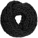CASPAR Womens Coarse Knitted Simple Winter Loop Scarf with Wide Stitches - SC230