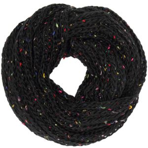 CASPAR Womens Coarse Knitted Loop Scarf with Colourful Neon Dot Accents - SC355