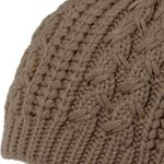 CASPAR Womens Classic Winter Knitted Hat / Beanie with Cable Stitch Braid Pattern and Chunky Bobble Pom Pom - MU055