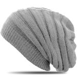 CASPAR Unisex Angora Mix Knitted Hat / Beanie with Simple Pattern - MU056