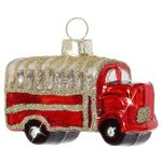 Sikora Christmas Tree Decoration Glass Bauble - Mini Truck H: 2.6 in