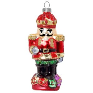 SIKORA BS334 Christbaumschmuck Glas Ornament / NUSSKNACKER - H:12,5cm