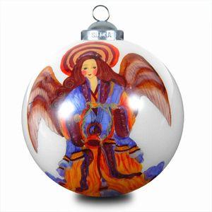 SIKORA K08-20 Innenglasmalerei Weihnachtsbaumkugel  1 Engel