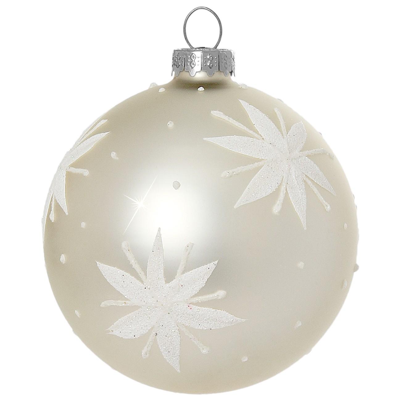 Christbaumkugeln Weiß 8cm.Sikora Christbaumkugeln Aus Glas Mit Klassischer Verzierung Stary
