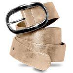 CASPAR Womens Jeans Belt / Waist Band with Oval Shape Metal Buckle - many colours - GU258